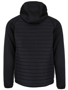 Čierna prešívaná bunda s kapucňou Jack & Jones Multi Quilted