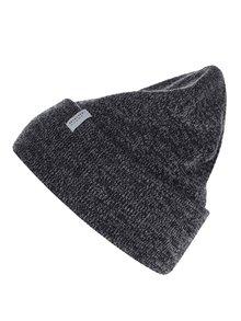 Čierno-sivá melírovaná čiapka Selected Homme Nethan