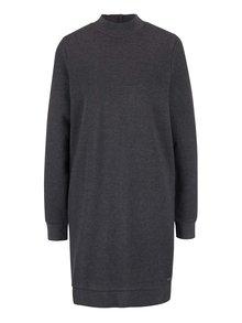 Sivé šaty s golierikom Bench