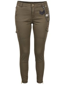 Khaki kapsáčové kalhoty ONLY Amy Cargo