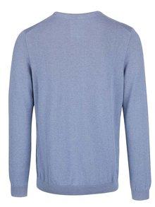 Šedomodrý pánský svetr s kulatým výstřihem s.Oliver