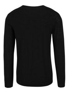 Pulover negru din lana Merino - Selected Homme Tower