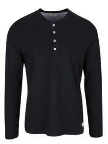 Bluza neagra Selected Homme Niklas din bumbac