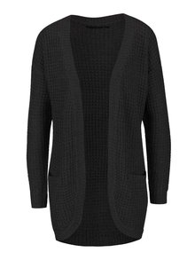 Cardigan lung negru ONLY Emma tricotat