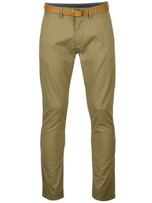 Pantaloni bej chino slim fit Selected Homme Yard
