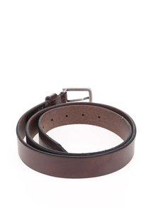 Tmavě hnědý kožený pásek Jack & Jones Lee