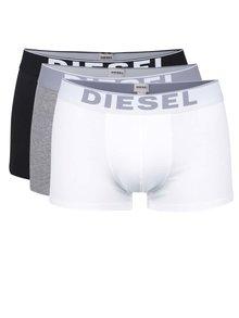 Súprava troch boxeriek v bielej, sivej a čiernej farbe Diesel