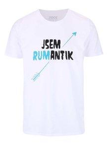Bílé pánské tričko s potiskem ZOOT Originál Rumantik