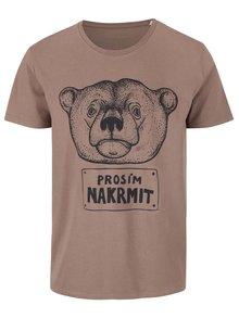 Hnedé pánske tričko ZOOT Originál Nakrmit