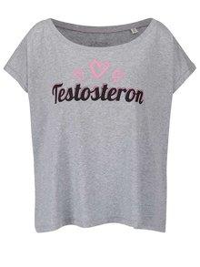 Tricou gri ZOOT Originál Testosteron de damă