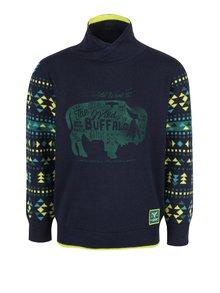 Tmavomodrý chlapčenský sveter s rolákom Blue Seven