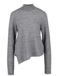 Bluză gri Cheap Monday Valid cu tiv asimetric