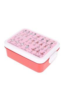 Cutie pentru gustări roz-roșu Tyrrell Katz Ballet pentru fete
