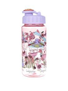 Růžová holčičí láhev na pití Tyrrell Katz Secret Garden