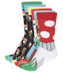 Sada šesti pánských ponožek v červené a černé barvě Oddsocks Fork