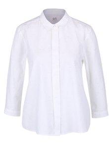 Biela dámska košeľa s 3/4 rukávmi a farebným melírovaním QS by s.Oliver