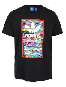 Čierne pánske tričko s potlačou adidas Originals