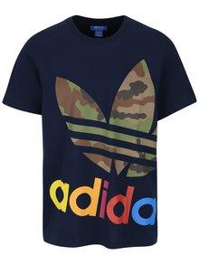 Tmavomodré pánske tričko s potlačou adidas Originals