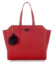 Červená kabelka s hadím vzorem Paul's Boutique Ally