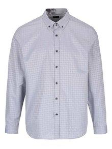 Světle šedá vzorovaná košile Burton Menswear London