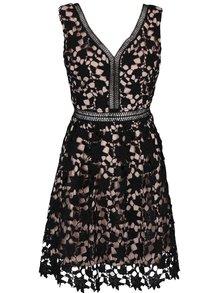 Rochie cu dantelă Apricot neagră