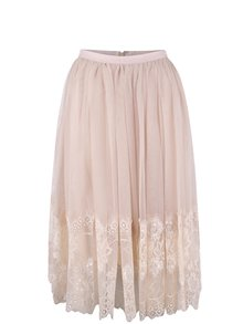 Staroružová midi sukňa Miss Selfridge