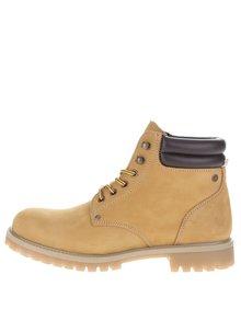 Světle hnědé semišové kotníkové boty Jack & Jones Stoke
