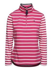 Bluză roz Tom Joule Fairdale cu guler înalt