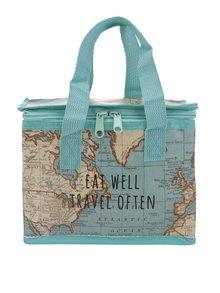 Mentolový box na jedlo s potlačou mapy Sass & Belle Vintage Map