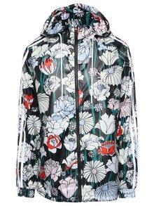Černá dámská květovaná šusťáková bunda adidas Originals Windbreaker