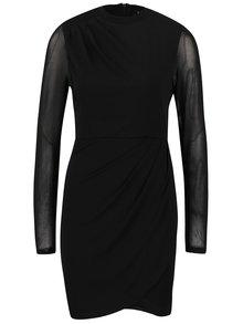 Čierne šaty s priehľadnými rukávmi VILA