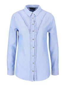 Světle modrá košile s volánky Dorothy Perkins