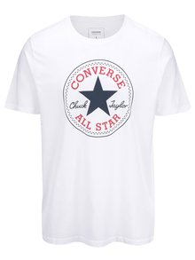 Bílé pánské tričko s logem Converse Core