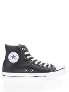 Černé kožené unisex kotníkové tenisky Converse Chuck Taylor All Star
