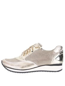 Pantofi sport aurii OJJU din piele
