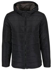Černá prošívaná bunda s kapucí ONLY & SONS Jonnie
