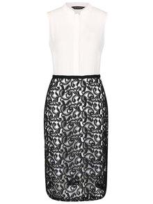 Čierno-biele šaty s čipkou Dorothy Perkins