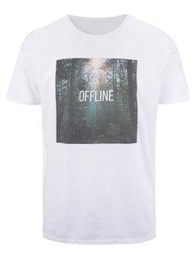 Tricou alb ZOOT Original Offline din bumbac cu imprimeu
