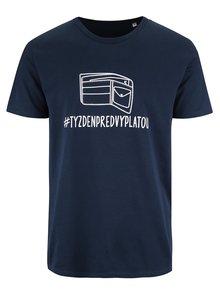 Tmavě modré pánské triko ZOOT Originál Týždeň pred výplatou