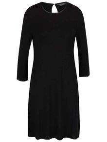 Čierne šaty s 3/4 rukávmi Dorothy Pekins