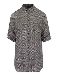 Krémovo-černá vzorovaná košile Dorothy Perkins Curve
