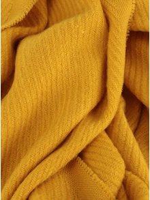 Žltý šál so strapcami Pieces Kial