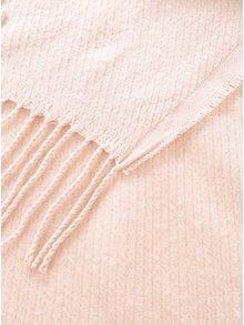 Fular roz pal Pieces Kial cu franjuri