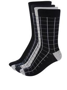 Súprava štyroch párov ponožiek v čiernej, sivej a modrej farbe ONLY & SONS Niels