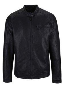 Jacheta neagră ONLY & SONS Joren din piele ecologică