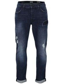 Tmavě modré džíny s potrhaným efektem ONLY & SONS Loom