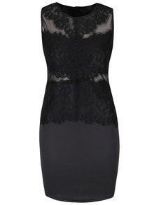 Rochie neagră fără mâneci AX Paris cu dantelă