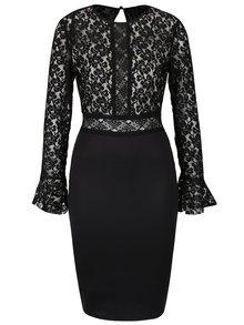 Černé šaty s dlouhými rukávy AX Paris