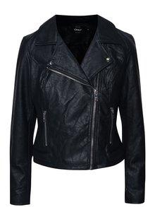 Jachetă neagră ONLY File din piele sintetică