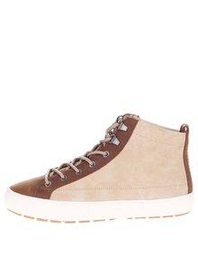 Béžové pánské semišové kotníkové boty s hnědými detaily Pointer Soma